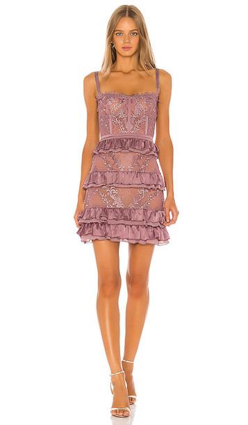V. Chapman Peony Dress in Purple