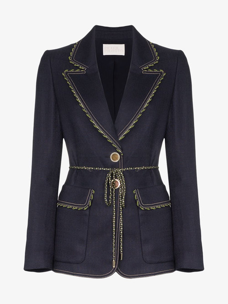 Peter Pilotto stretch tailor jacket in blue