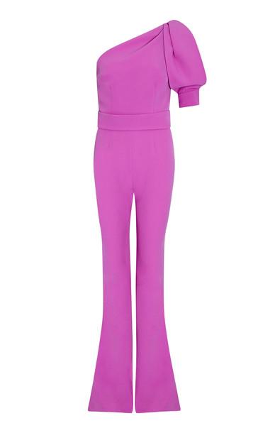 Safiyaa Majorie One-Shoulder Crepe Jumpsuit in pink