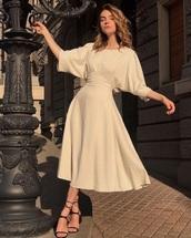 dress,beige,vintage,classy
