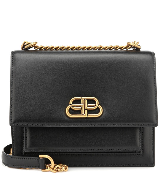 Balenciaga Sharp leather shoulder bag in black