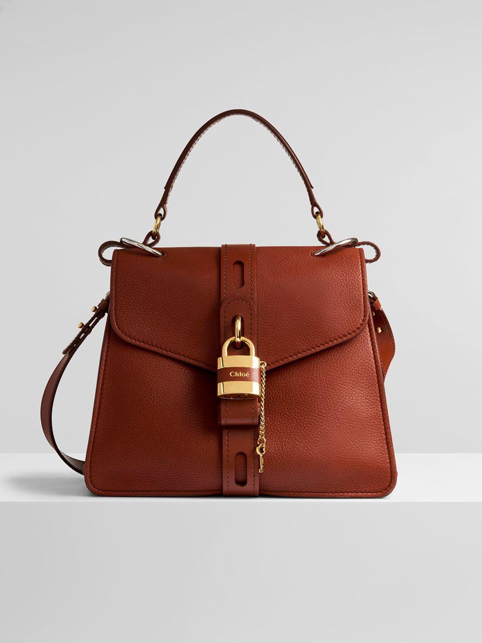 CHLOÉ Medium Aby day bag Women's Sepia Brown 100% Buck , Calf-skin leather