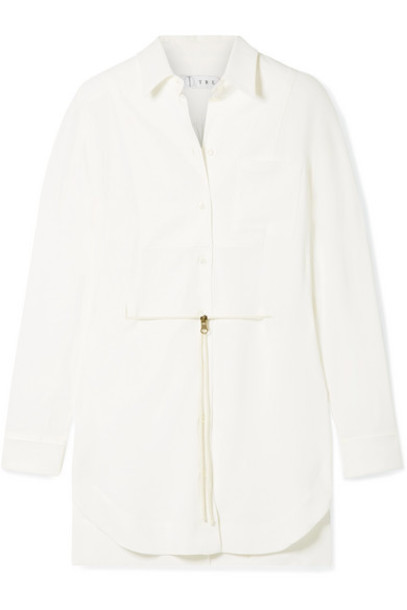 TRE by Natalie Ratabesi - The Scarlet Belted Crepe Shirt - Ivory