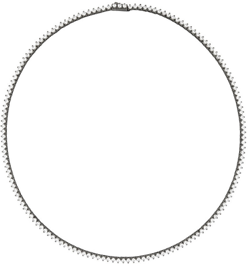 Numbering Gunmetal #3710 Necklace in black