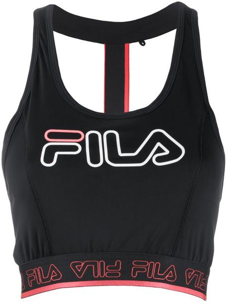 Fila printed vest top in black