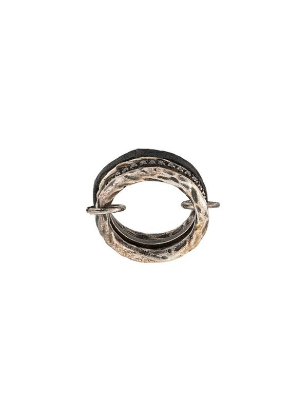 Guidi textured style ring in black