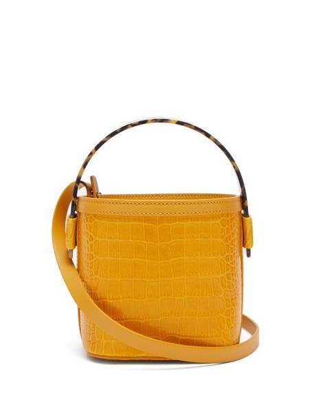 Nico Giani - Adenia Mini Crocodile Effect Leather Bucket Bag - Womens - Yellow