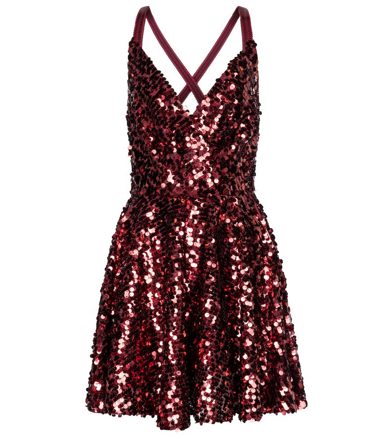 Dolce & Gabbana Exclusive to Mytheresa – Sequined minidress in red