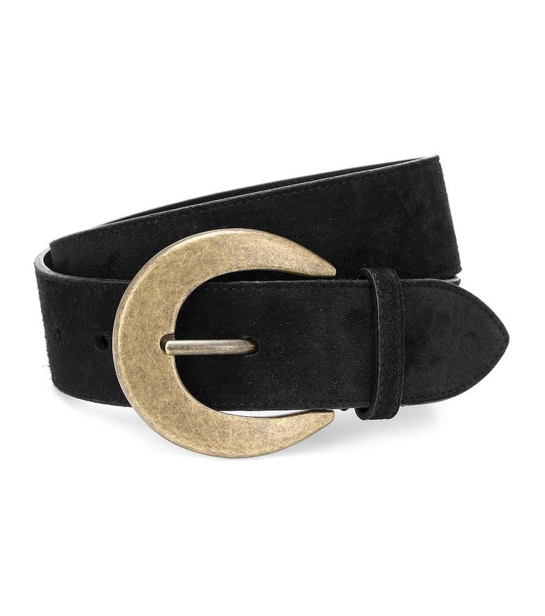 Saint Laurent Suede belt in black