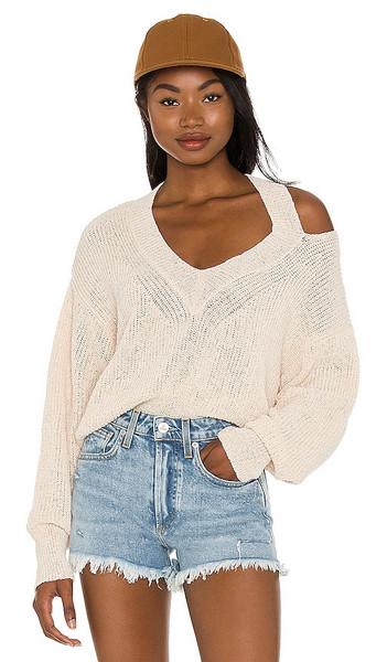 Lovers + Friends Lovers + Friends Miranda Cut Out Sweater in Cream