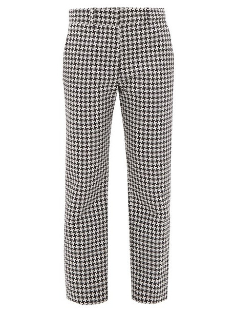Haider Ackermann - Houndstooth Straight Leg Trousers - Womens - Black White