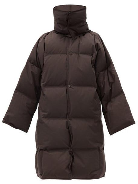 Bottega Veneta - Frosted Cotton-poplin Down-filled Coat - Womens - Brown