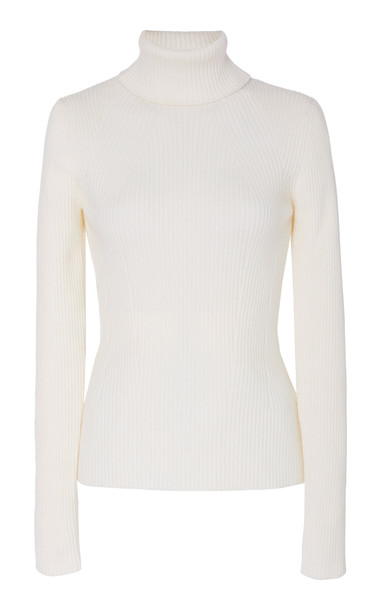 3.1 Phillip Lim Ribbed Wool Turtleneck Top Size: S in neutral