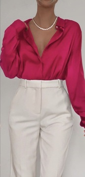 blouse,pink,magenta,harry styles