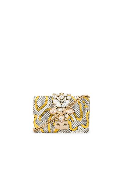 GEDEBE Mini Cliky Clutch in gold / metallic