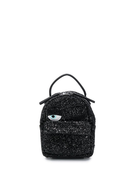 Chiara Ferragni Blinking Eye backpack in black