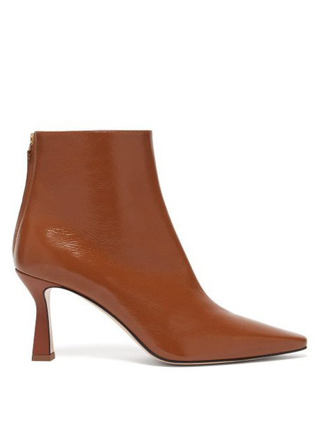 Wandler - Lina Point Toe Leather Ankle Boots - Womens - Tan