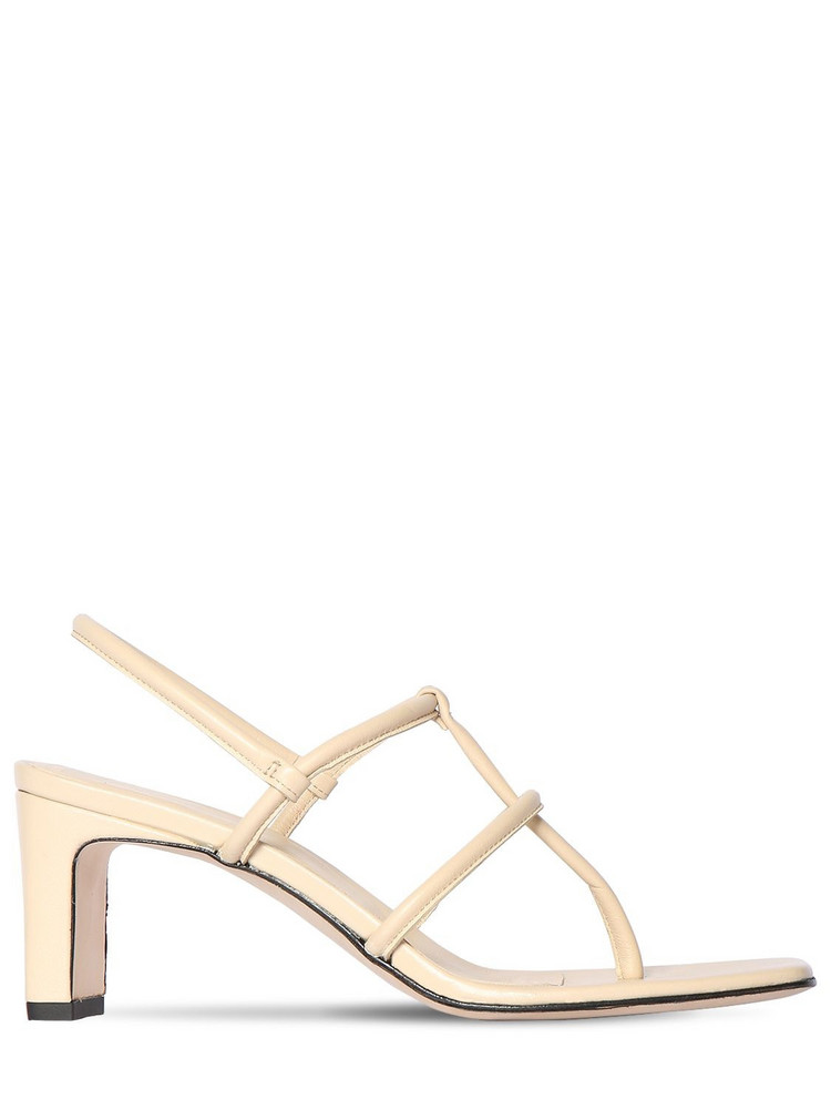 DORATEYMUR 65mm Leather Thong Sandals in beige