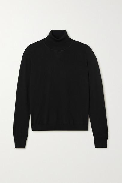 Maison Margiela - Embroidered Wool Turtleneck Sweater - Black