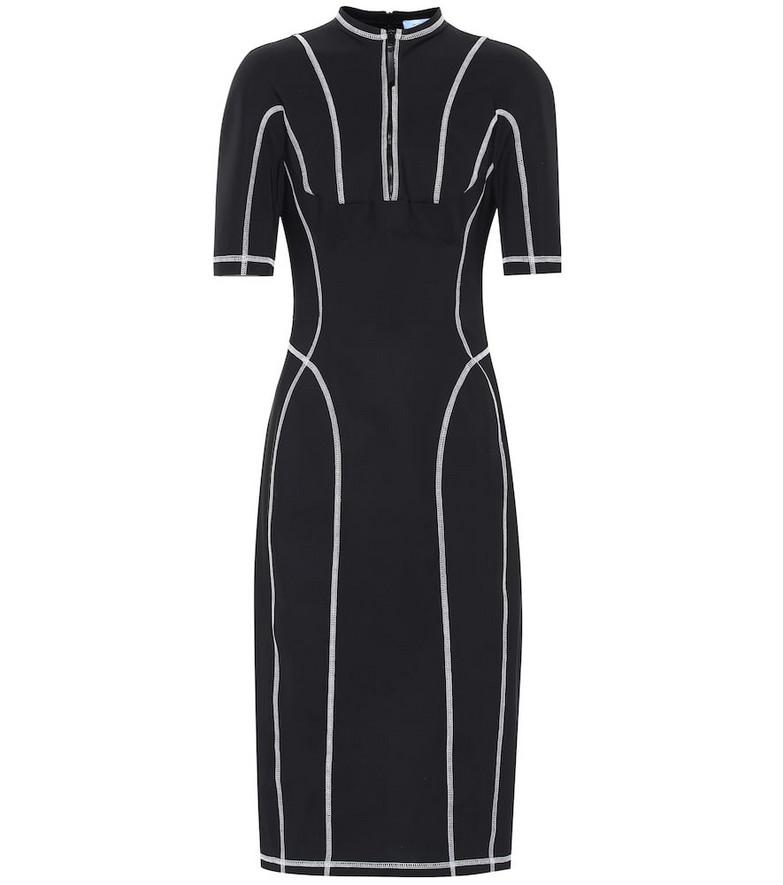Mugler Scuba midi dress in black