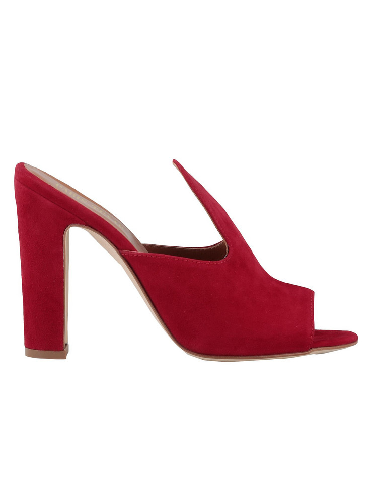 Paris Texas Leather Sandal in red