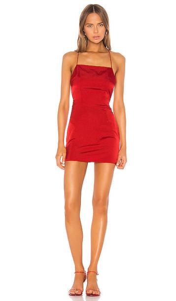 superdown Autumn Slip Mini Dress in Red