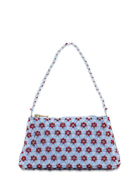 SHRIMPS Dawson Beaded Baguette Bag in blue
