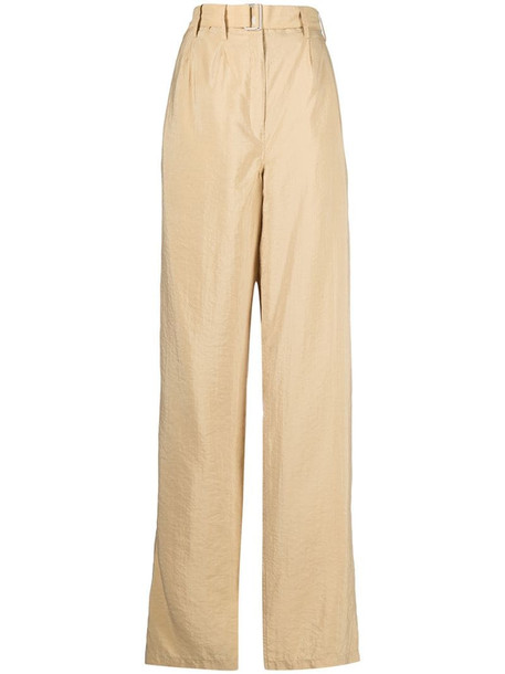 Lemaire wide-leg silk-blend trousers in neutrals