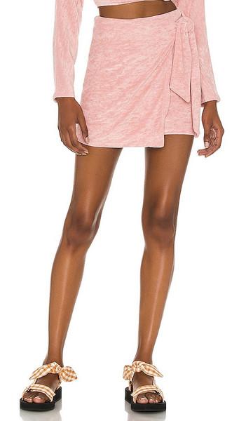 Lovers + Friends Lovers + Friends Tamara Skirt in Blush in pink