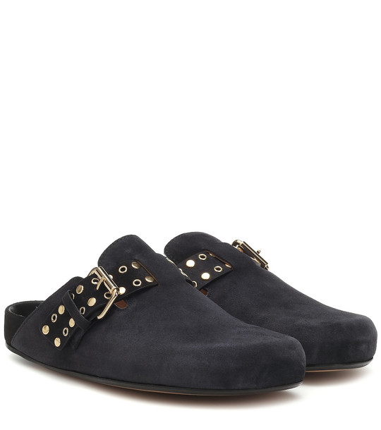 Isabel Marant Mirvin suede slippers in black