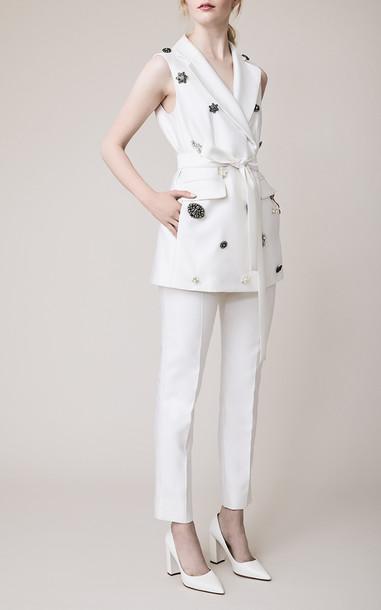 Lela Rose The Monaco Vest Size: 00 in white