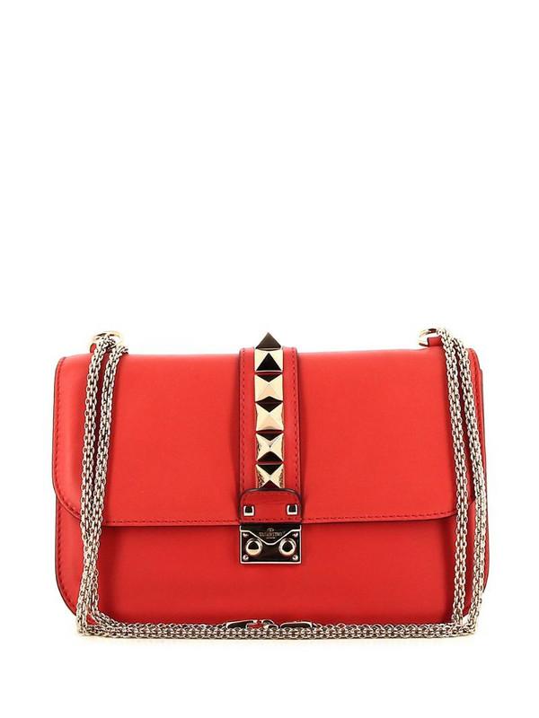 Valentino Pre-Owned Rockstud shoulder bag in red