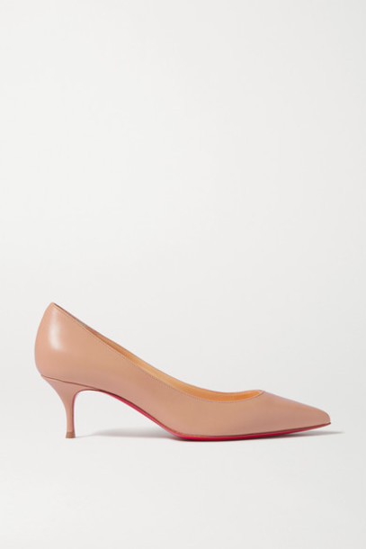Christian Louboutin - Kate 55 Leather Pumps - Neutral