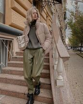 pants,leather pants