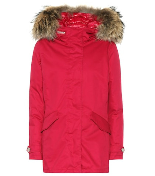 Woolrich W'S Arctic 3-in-1 down parka in red