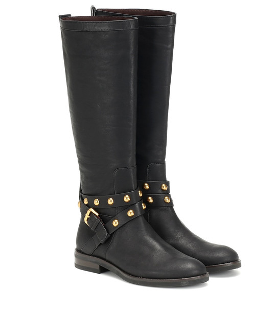 See By Chloé Neo Jines knee-high leather boots in black