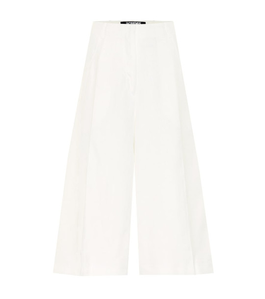 Jacquemus Le Short D'Homme flared culottes in white
