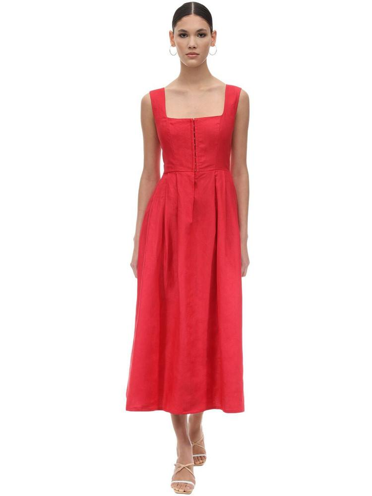 GIOIA BINI Exclusive Chiara Linen Dirndl Dress in red