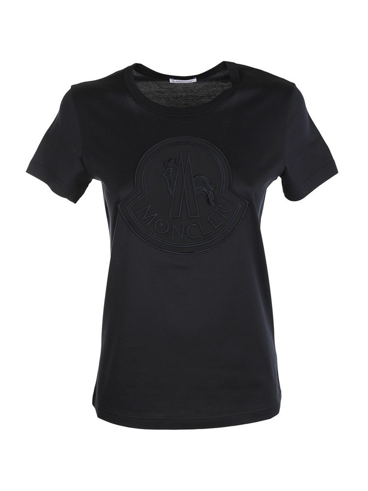 Moncler cotton t-shirt in nero