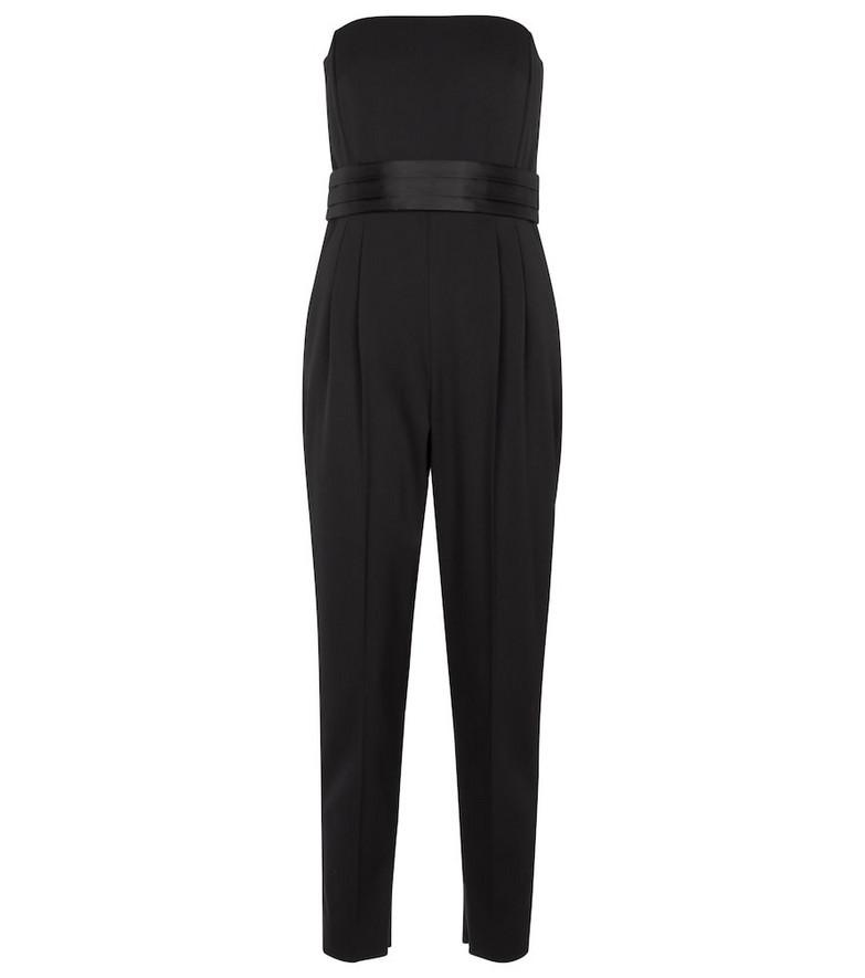 Max Mara Elegante Calle stretch-wool jumpsuit in black