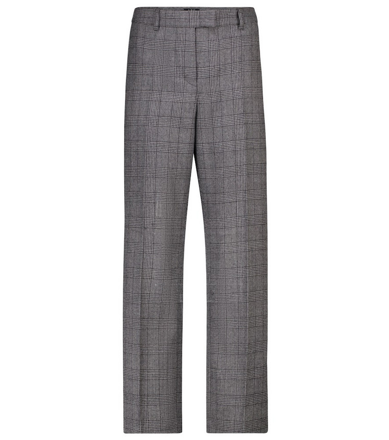 A.P.C. Cece checked straight wool pants in grey