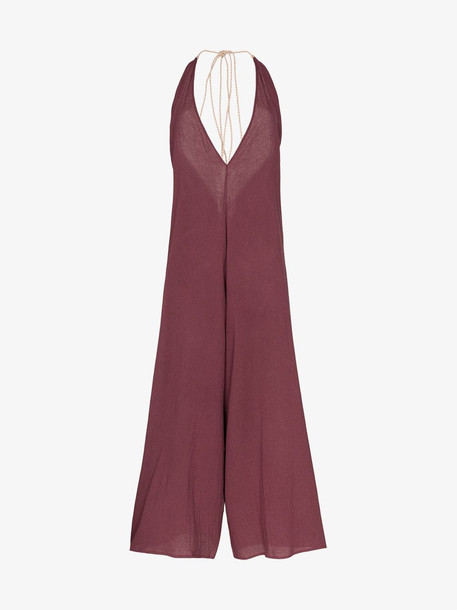 Caravana Pakkun halterneck jumpsuit in purple