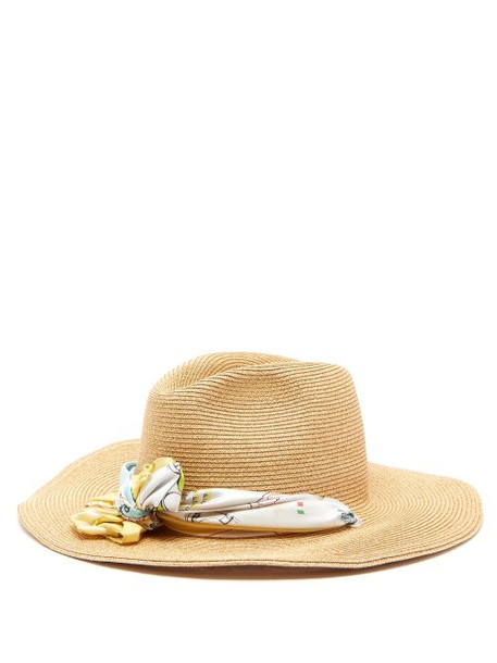 Filù Hats - Batu Tara Medium Brim Straw Hat - Womens - Beige