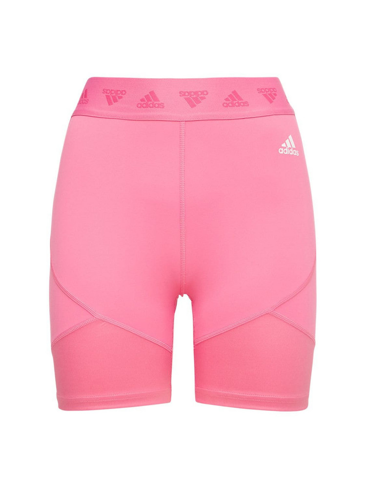 ADIDAS PERFORMANCE Mesh Compression Shorts in pink