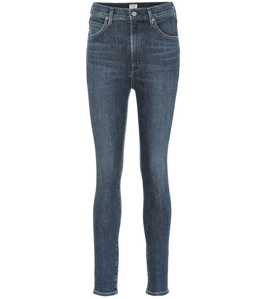 Citizens of Humanity Chrissy high-rise skinny jeans in blue