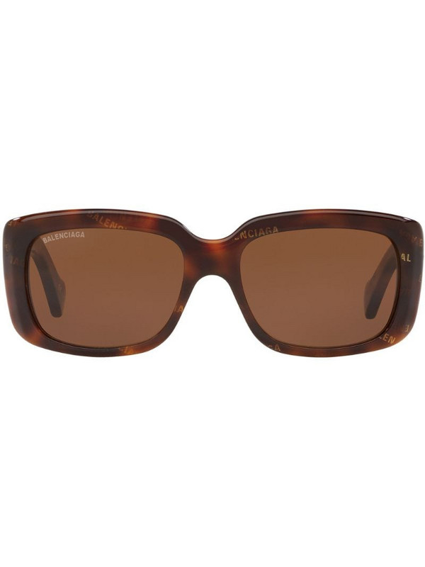 Balenciaga Eyewear Flat D-Frame sunglasses in brown