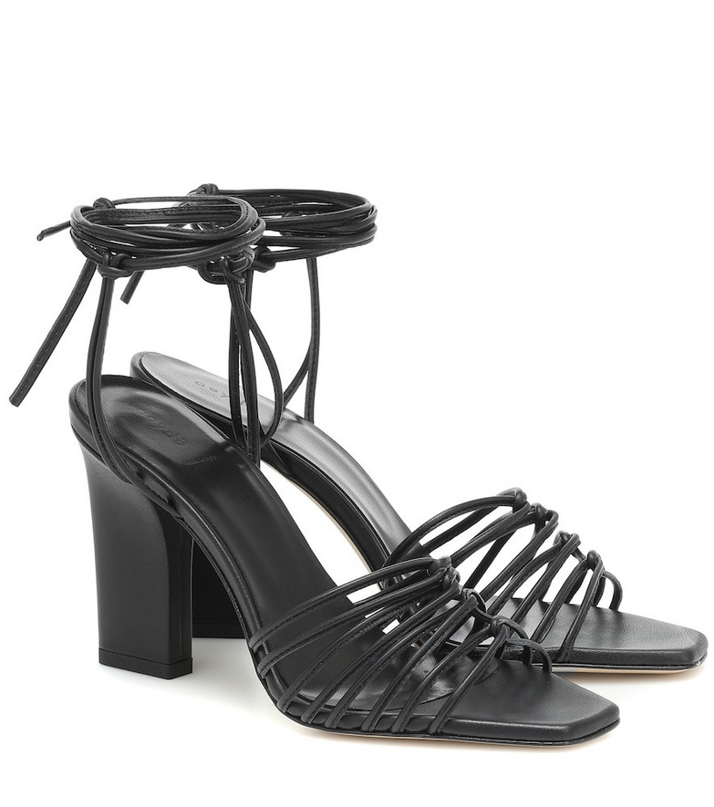 Aeydé Daisy leather sandals in black