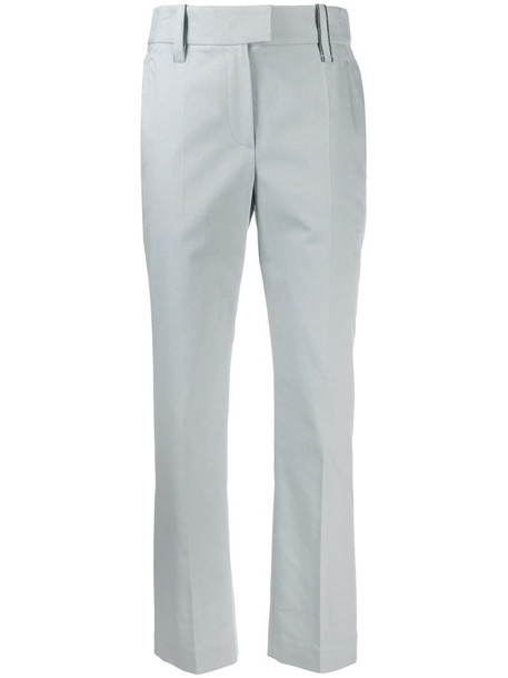 Brunello Cucinelli cropped tailored trousers in blue