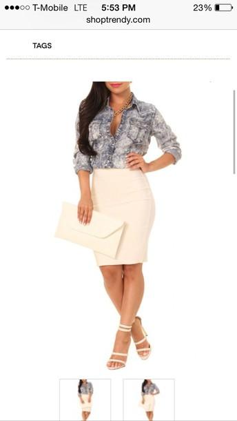 blouse top denim