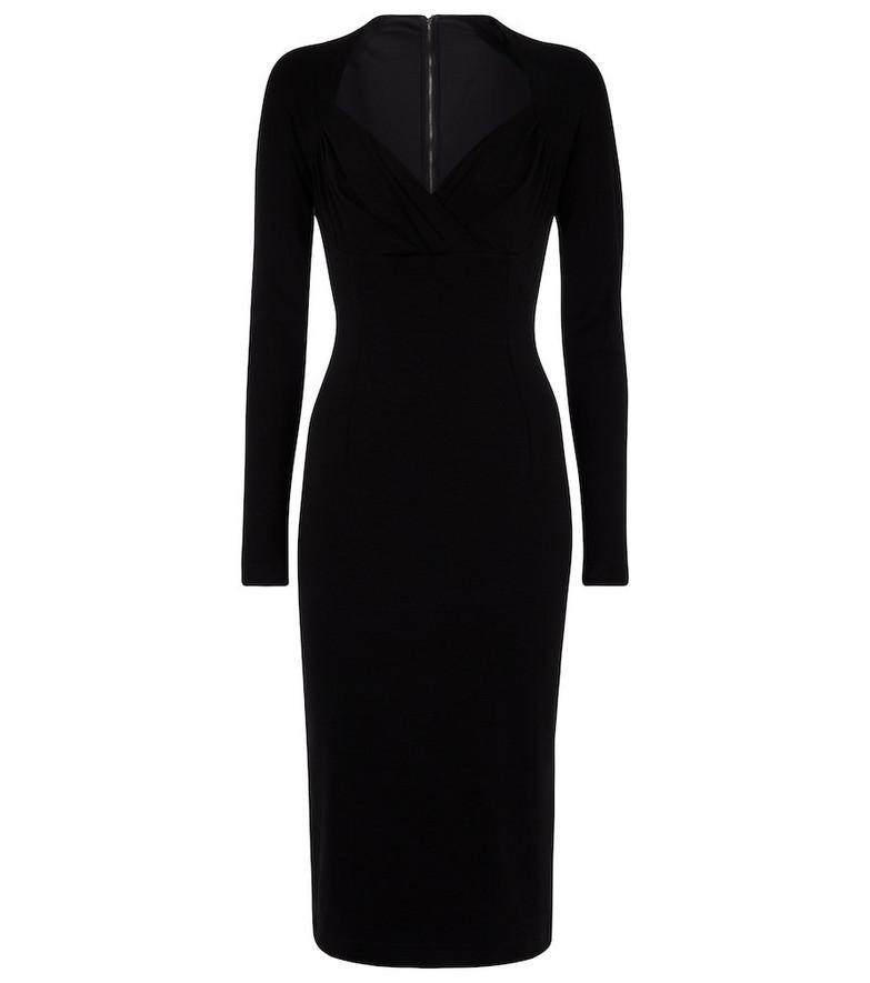 Dolce & Gabbana Stretch-jersey midi dress in black